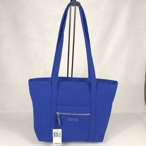 NWT VB Microfiber Iconic Small Vera Tote Gage Blue